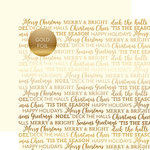 Carta Bella Paper - Holiday Sentiments Gold Foil Collection - 12 x 12 Double Sided Paper - Cream