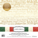 Carta Bella Paper - Holiday Sentiments Gold Foil Collection - 12 x 12 Collection Kit