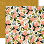 Carta Bella Paper - Flora No 1 Collection - 12 x 12 Double Sided Paper - Peony Posy Bunch