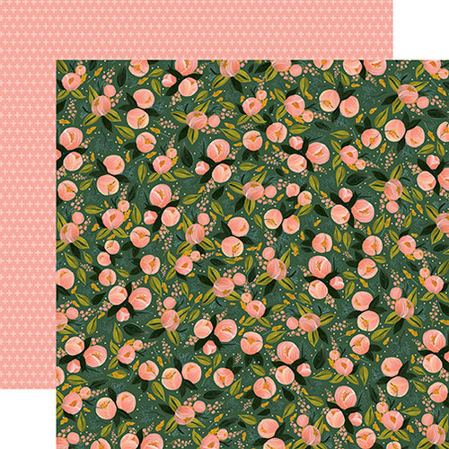 Carta Bella Paper - Flora No 1 Collection - 12 x 12 Double Sided Paper - Peony Posy Cluster