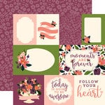 Carta Bella Paper - Flora No 1 Collection - 12 x 12 Double Sided Paper - Lily Meadow Journaling Cards