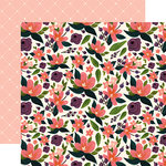 Carta Bella Paper - Flora No 1 Collection - 12 x 12 Double Sided Paper - Lily Meadow Corsage