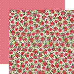 Carta Bella Paper - Flora No 1 Collection - 12 x 12 Double Sided Paper - Rose Garden Wreath