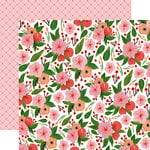 Carta Bella Paper - Flora No 1 Collection - 12 x 12 Double Sided Paper - Petunia Patch Bundle