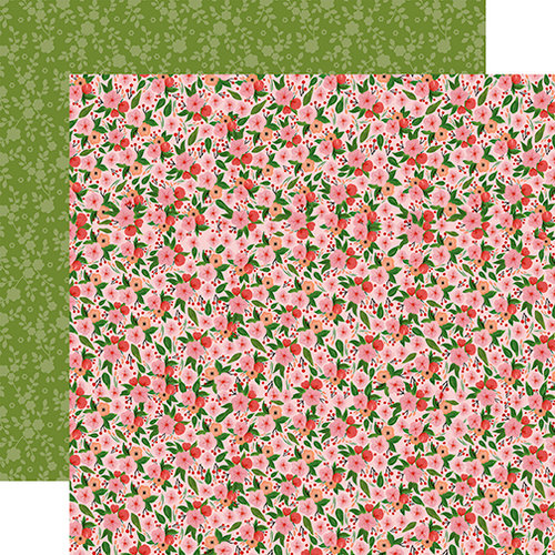 Carta Bella Paper - Flora No 1 Collection - 12 x 12 Double Sided Paper - Petunia Patch Garland