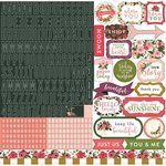 Carta Bella Paper - Flora No 1 Collection - 12 x 12 Cardstock Stickers - Alphabet
