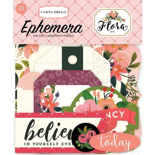 Carta Bella Paper - Flora No 1 Collection - Ephemera