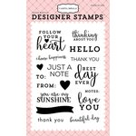 Carta Bella Paper - Flora No 1 Collection - Clear Photopolymer Stamps - Simply Stated