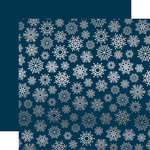 Carta Bella Paper - Let it Snow Collection - 12 x 12 Double Sided with Foil Accents - Navy