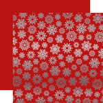 Carta Bella Paper - Let it Snow Collection - 12 x 12 Double Sided with Foil Accents - Red
