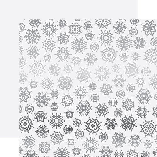 Carta Bella Paper - Let it Snow Collection - 12 x 12 Double Sided with Foil Accents - White