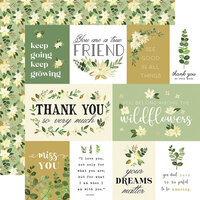 Carta Bella Paper - Flora No. 4 - 12 x 12 Double Sided Paper - Natural Journaling Cards