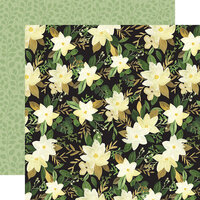 Carta Bella Paper - Flora No. 4 Collection - 12 x 12 Double Sided Paper - Natural Large Floral