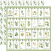 Carta Bella Paper - Flora No. 4 - 12 x 12 Double Sided Paper - Natural Tags