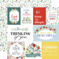 Carta Bella Paper - Flora No. 4 - 12 x 12 Double Sided Paper - Bold Journaling Cards