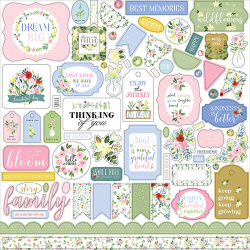 Carta Bella Paper - Flora No. 4 Collection - 12 x 12 Cardstock Stickers - Elements