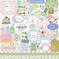 Carta Bella Paper - Flora No. 4 - 12 x 12 Cardstock Stickers - Elements