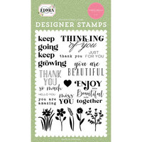 Carta Bella Paper - Flora No. 4 - Clear Photopolymer Stamps - Keep Going
