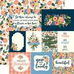 Carta Bella Paper - Flora No 2 Collection - 12 x 12 Double Sided Paper - Primrose Journaling Cards