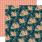 Carta Bella Paper - Flora No 2 Collection - 12 x 12 Double Sided Paper - Primrose Patch
