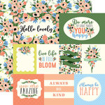 Carta Bella Paper - Flora No 2 Collection - 12 x 12 Double Sided Paper - Blossom Journaling Cards