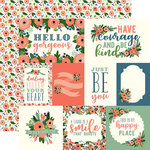 Carta Bella Paper - Flora No 2 Collection - 12 x 12 Double Sided Paper - Magnolia Journaling Cards