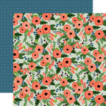 Carta Bella Paper - Flora No 2 Collection - 12 x 12 Double Sided Paper - Magnolia Wreath