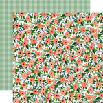 Carta Bella Paper - Flora No 2 Collection - 12 x 12 Double Sided Paper - Magnolia Meadow