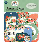 Carta Bella Paper - Flora No 2 Collection - Ephemera - Frames and Tags