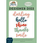 Carta Bella Paper - Flora No 2 Collection - Designer Dies - Thanks Darling Word