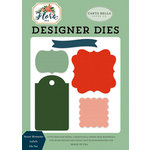 Carta Bella Paper - Flora No 2 Collection - Designer Dies - Sweet Moments Labels