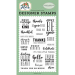 Carta Bella Paper - Flora No 2 Collection - Clear Acrylic Stamps - Just Be You