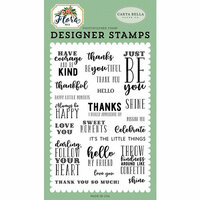 Carta Bella Paper - Flora No 2 Collection - Clear Photopolymer Stamps - Just Be You
