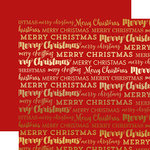 Carta Bella Paper - Merry Christmas Collection - 12 x 12 Double Sided with Foil Accents - Red