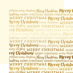Carta Bella Paper - Merry Christmas Collection - 12 x 12 Double Sided with Foil Accents - Cream