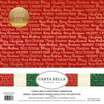 Carta Bella Paper - Merry Christmas Words Gold Foil Collection - 12 x 12 Collection Kit