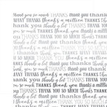 Carta Bella Paper - Many Thanks Silver Foil Collection - 12 x 12 Paper - White