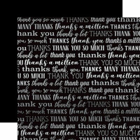 Carta Bella Paper - Many Thanks Silver Foil Collection - 12 x 12 Paper - Black
