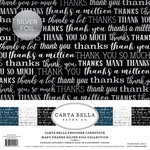 Carta Bella Paper - Many Thanks Silver Foil Collection - 12 x 12 Collection Kit