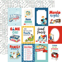Carta Bella Paper - Family Night Collection - 12 x 12 Double Sided Paper - 3 x 4 Journaling Cards
