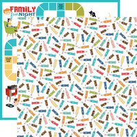 Carta Bella Paper - Family Night Collection - 12 x 12 Double Sided Paper - Soda