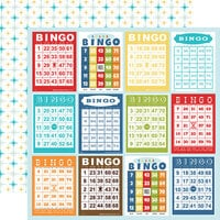 Carta Bella Paper - Family Night Collection - 12 x 12 Double Sided Paper - Bingo Cards