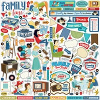 Carta Bella Paper - Family Night Collection - 12 x 12 Cardstock Stickers - Elements