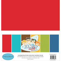Carta Bella Paper - Family Night Collection - 12 x 12 Solids Paper Pack