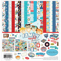 Carta Bella Paper - Family Night Collection - 12 x 12 Collection Kit
