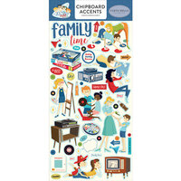 Carta Bella Paper - Family Night Collection - Chipboard Stickers - Accents