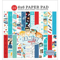 Carta Bella Paper - Family Night Collection - 6 x 6 Paper Pad