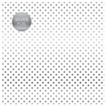 Carta Bella Paper - Dots and Stripes Collection - Silver Foil - 12 x 12 Paper with Foil Accents - White