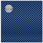 Carta Bella Paper - Dots and Stripes Collection - Silver Foil - 12 x 12 Paper with Foil Accents - Navy