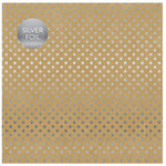 Carta Bella Paper - Dots and Stripes Collection - Silver Foil - 12 x 12 Paper with Foil Accents - Kraft